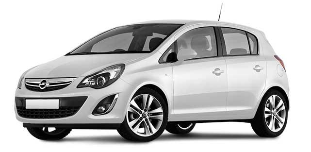 Opel corsa white 2